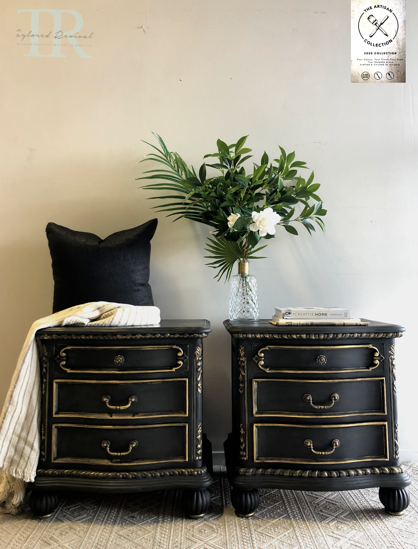 Commissioned Bedside Tables In Midnight Chalk Paint The Artisan Company