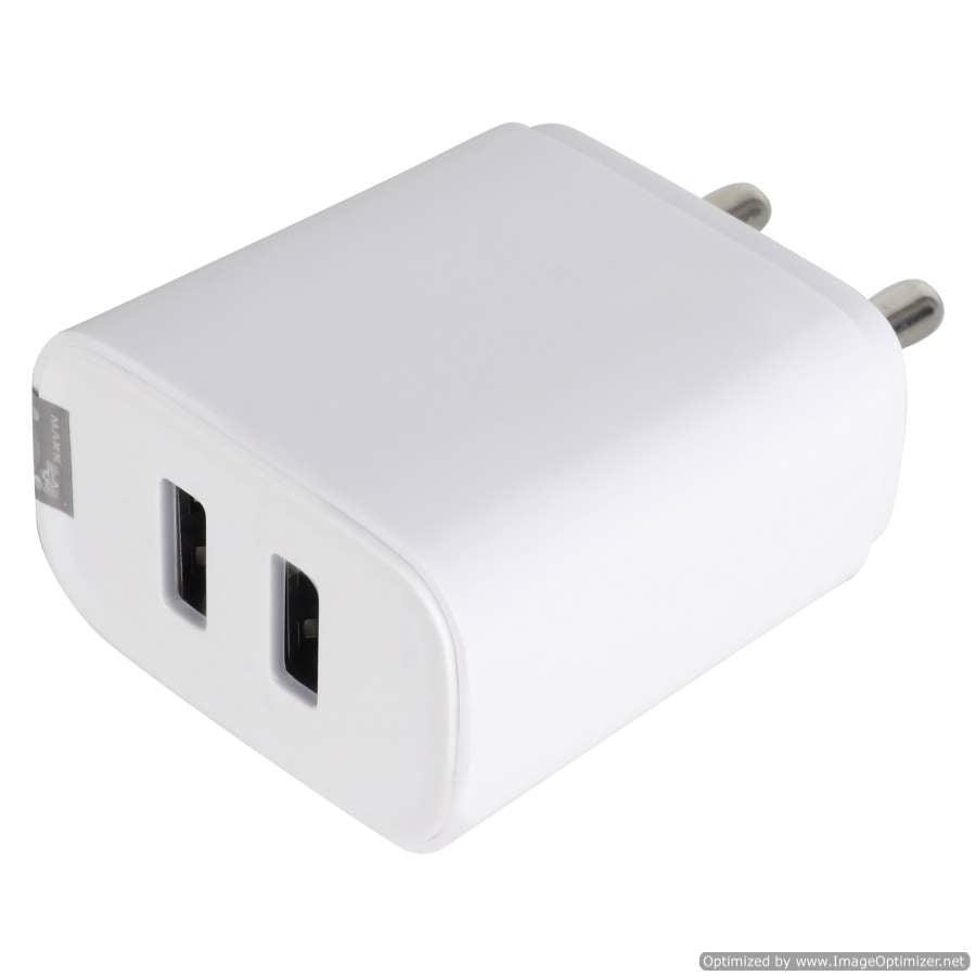 Maxx SHREEM VI-5V-2A-2USB Fast Mobile Charger (Adaptor) for Smart Phones ,Compatible with Apple,VIVO,OPPO,MI,SAMSUNG