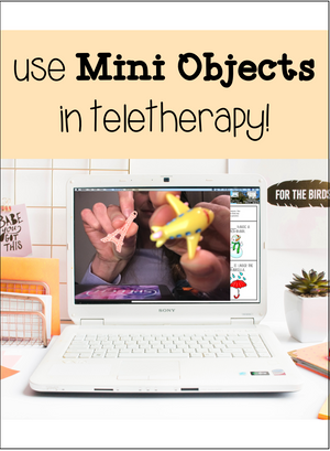 Use mini objects in teletherapy