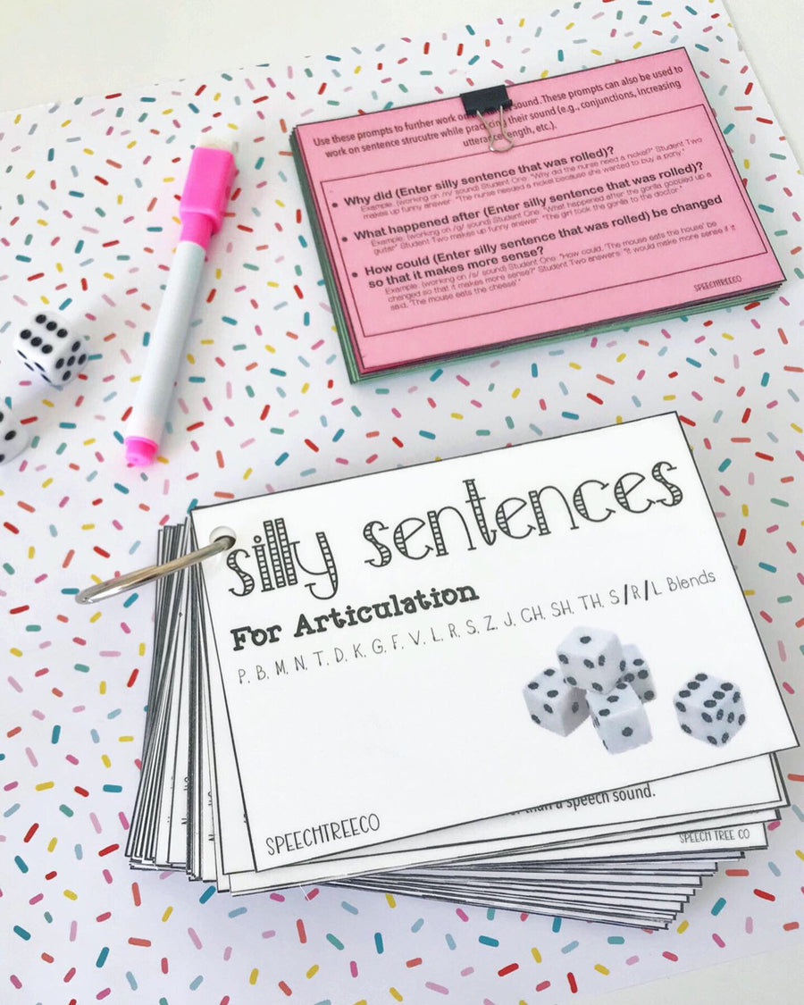 Digital Download - Silly Sentences For Articulation