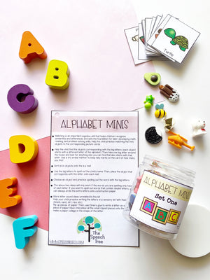 ABC Alphabet mini objects montessori