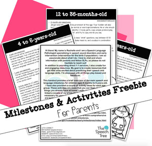 Milestones & Activity Ideas Handout