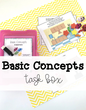 Basic Concepts Activities Mini Objects For Speech Therapy