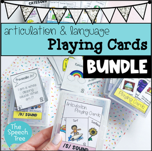 Playing Cards Bundle for Articulation & Language
