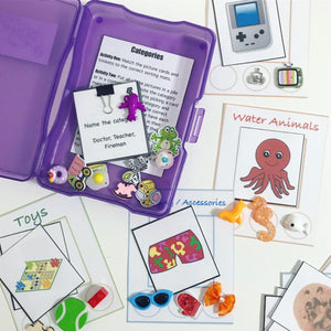 Categories Kit Mini Objects for Speech Therapy