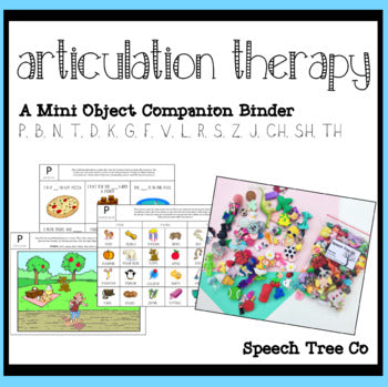 Digital Download: Articulation Therapy Companion for Mini Objects Speech Therapy