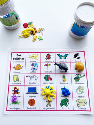 Digital Download Syllable Shape Activities for Speech Therapy Apraxia