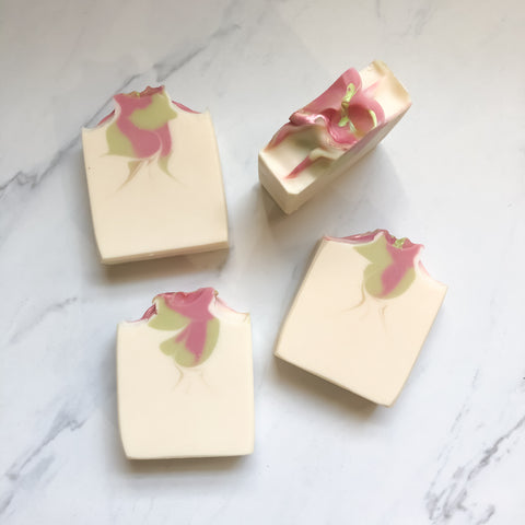 White Lily and Aloe - Handmade Artisan Soap Nath Soap Company, LLC