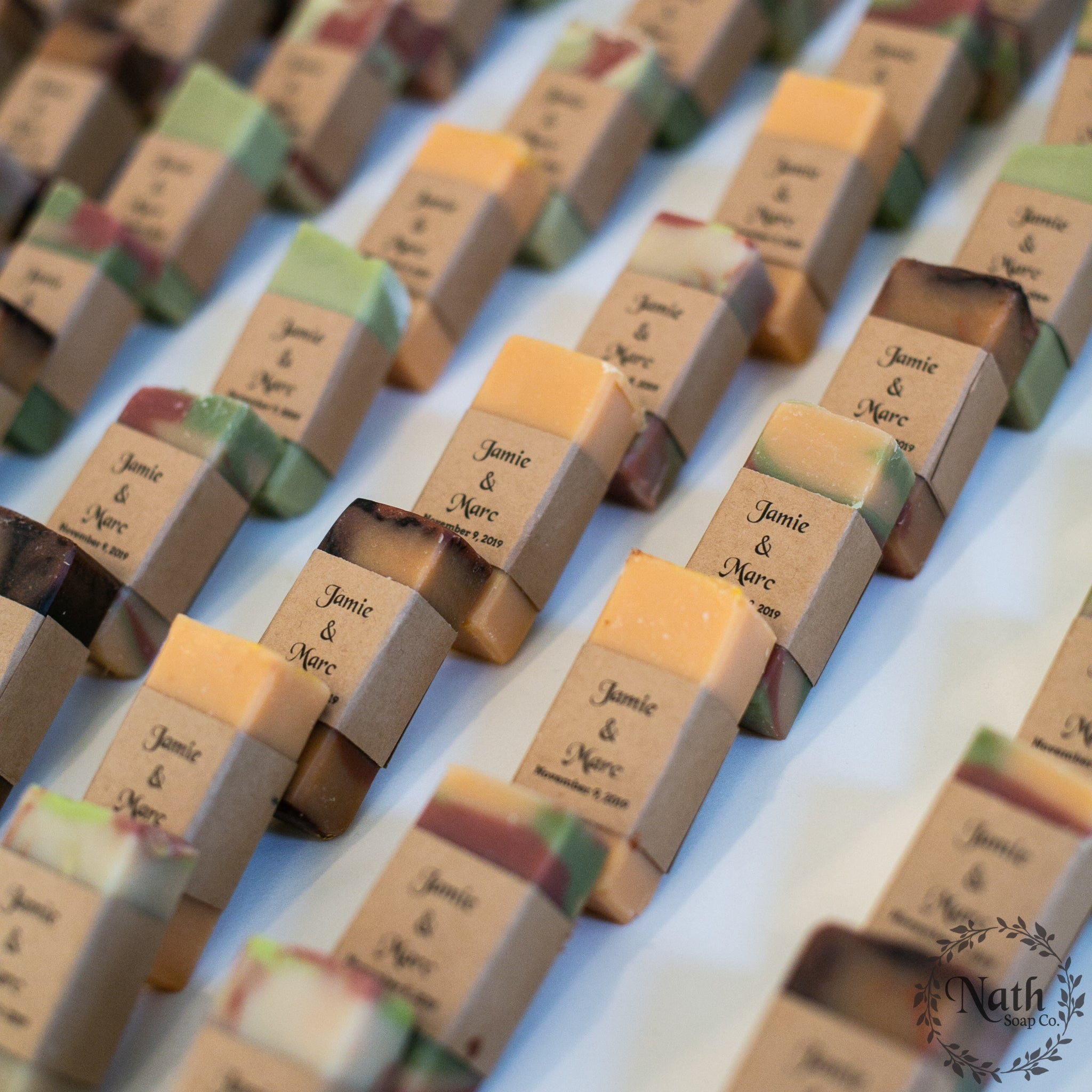 Wedding, showers, events mini artisan soap favors.