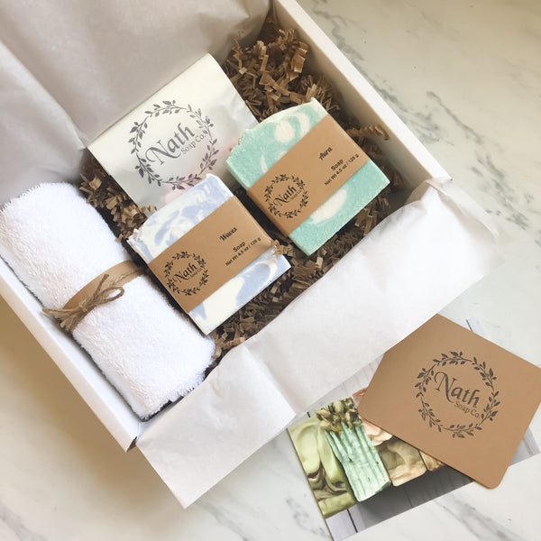 Gift Box - Salt Bars - Handmade Handcrafted artisan soap set Nath Soap Company, LLC