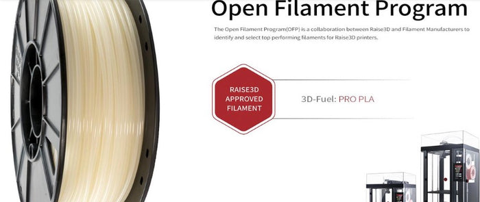 3D-Fuel and Raise3D Collaborate to Certify Pro PLA Filament
