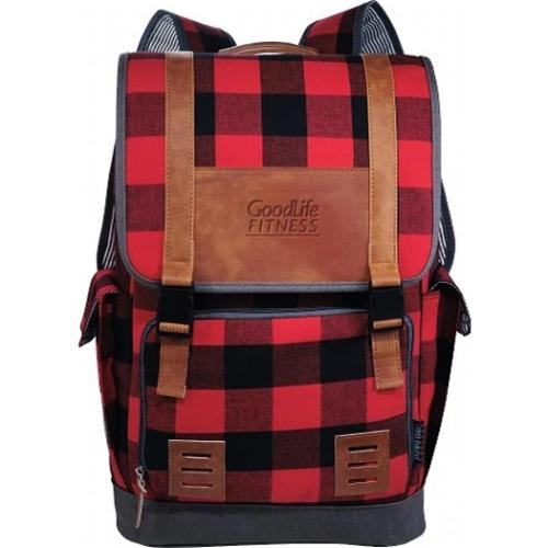 "Campster 17"" Plaid Backpack"