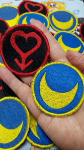 Sailor Moon and Sailor Mars patches