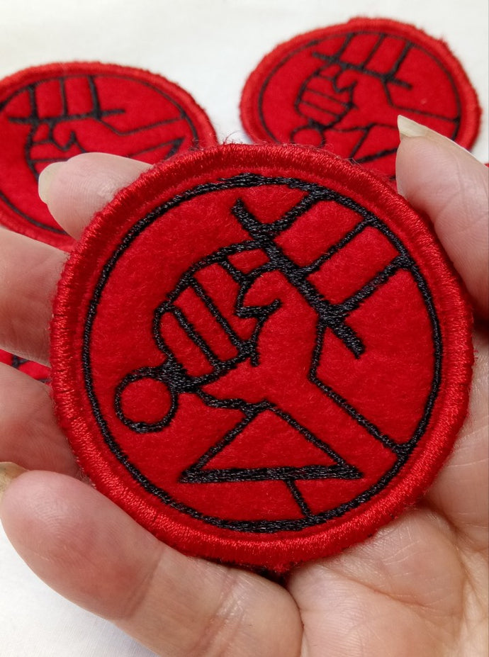 Hellboy patch (inspired by source material)