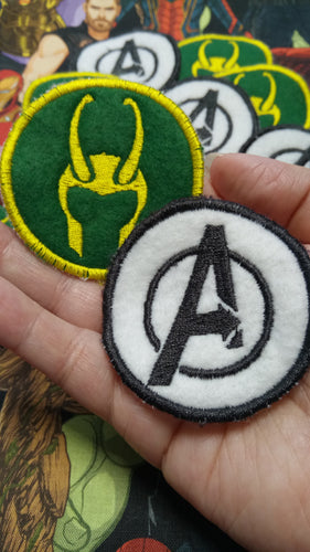Avengers and Loki patches (inspired by source material)