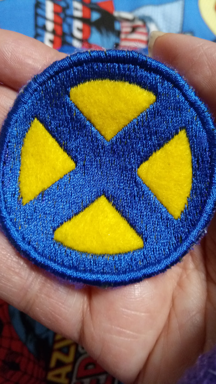 X-MEN patch-blue and yellow (inspired by source material)