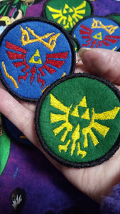 LoZ Hyrule warriors and Royal Family Crest patches