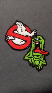 Ghostbusters and Slimer *glows in the dark* patch set