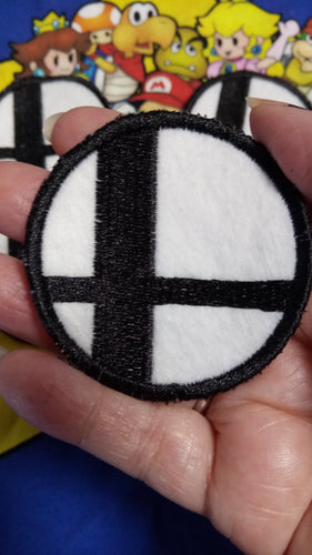Super Smash Bros patch: Black and White (Inspired by source material)