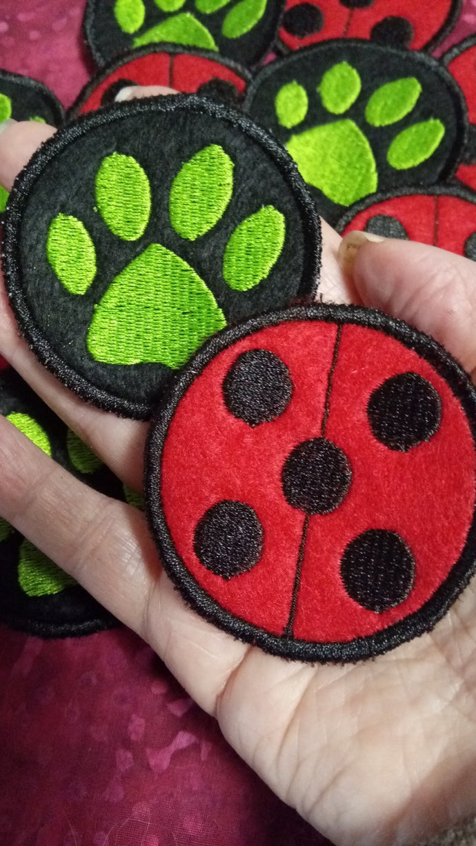 Miraculous Ladybug Patches (Inspired by source material)