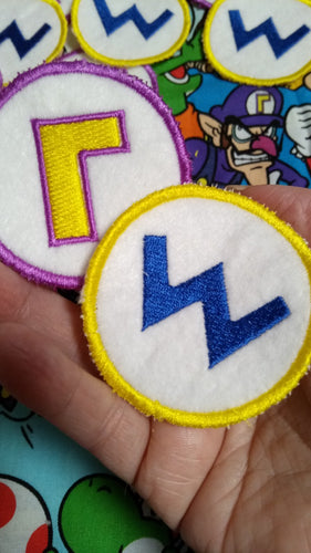 Wario and Waluigi patches (Inspired by source material)