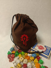 Load image into Gallery viewer, WoW: Horde Dice Bag