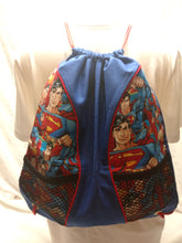 Load image into Gallery viewer, Superman Drawstring panel Backpack