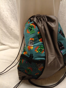 Minecraft Drawstring panel Backpack