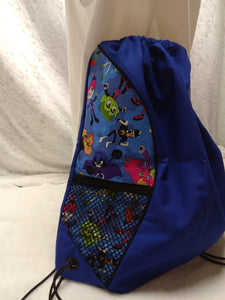 Teen Titans Go Drawstring panel Backpack