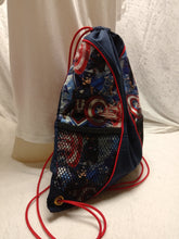 Load image into Gallery viewer, Captain America Drawstring panel Backpack