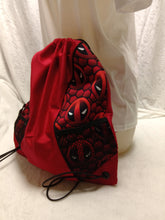 Load image into Gallery viewer, Deadpool Symbol Drawstring panel Backpack