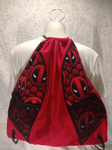Deadpool Symbol Drawstring panel Backpack