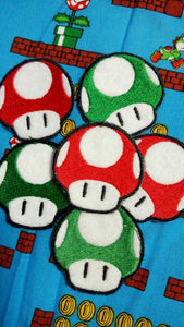 Mario mushrooms patches (inspired by source material)