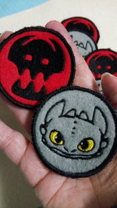 How to train a dragon patches (inspired by source material)