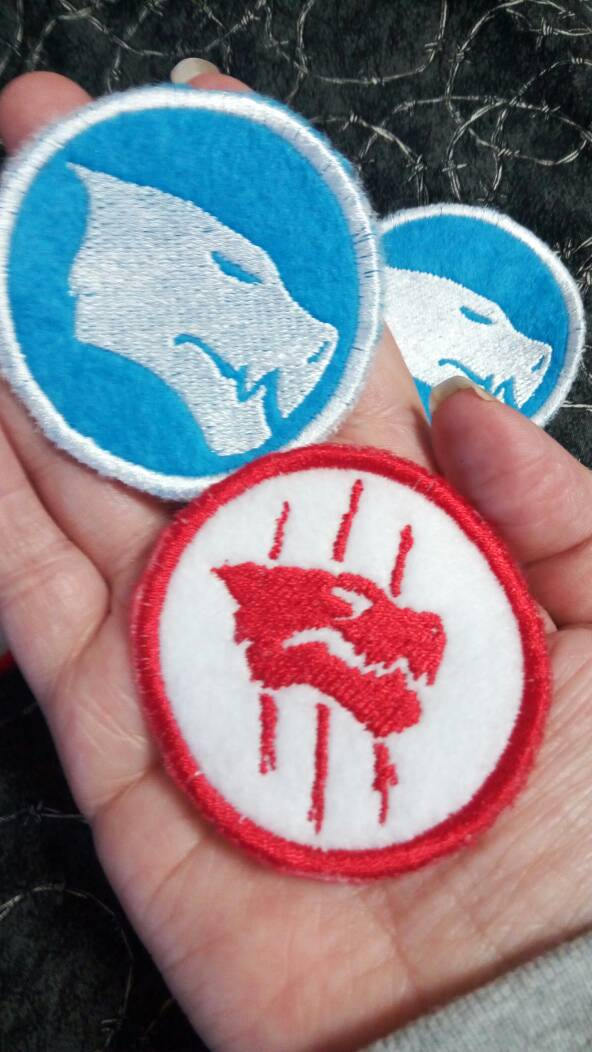 RWBY White Fang patches (Inspired by source material)