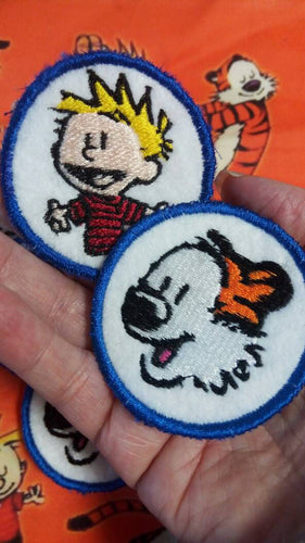 Calvin and Hobbes patches (Inspired by source material)