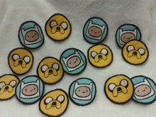 Load image into Gallery viewer, Adventure Time! Finn and Jake patches (Inspired by source material)