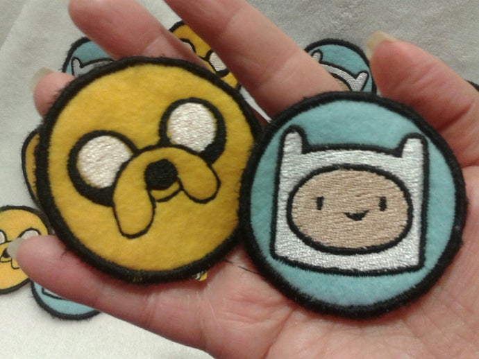 Adventure Time! Finn and Jake patches (Inspired by source material)