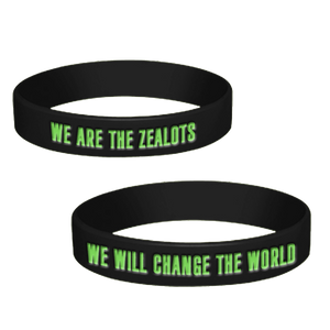 """We Will Change The World"" Embossed Silicone Bracelet"