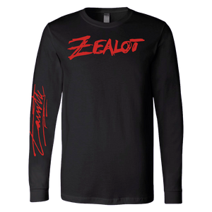 Zealot Black Long Sleeve Tee