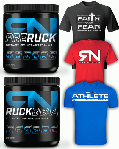 Ruck Stay-Fit-Box (Preworkout + Amino + 3X T-SHIRTS)