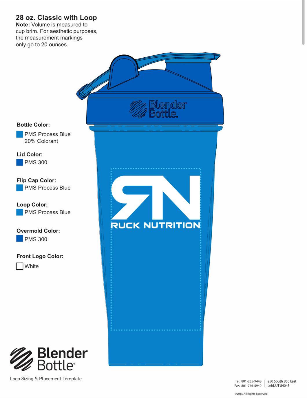 28 oz. Classic Ruck Blender Bottle