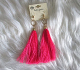 Pick Your Color Stylish Pair Of Fringe Tassel Earrings - SkinDeepExperience