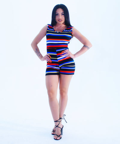 An In-Style Stripe Design Romper - SkinDeepExperience