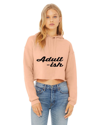 Adult-Ish Sexy Crop Hooded Sweater - SkinDeepExperience