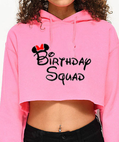 Birthday Squad...Sexy Crop Hooded Sweater - SkinDeepExperience