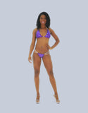 An Exquisite Custom Purple Competition Fitness Bikini - SkinDeepExperience
