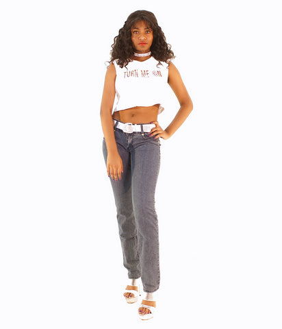 An In-Style Rhinestone Back Design Jeans - SkinDeepExperience