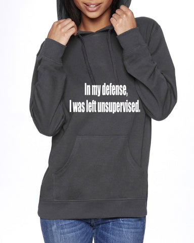 In My Defense Trend Setting Hooded Sweater - SkinDeepExperience
