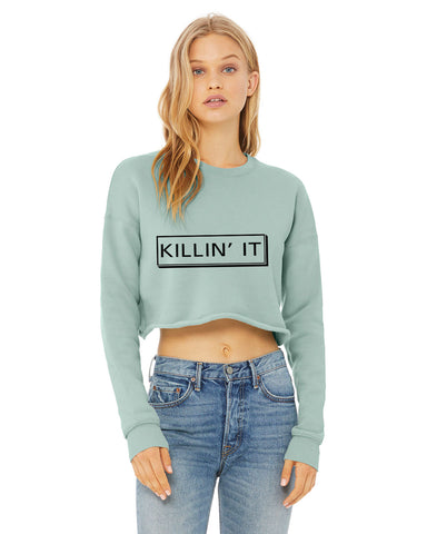 Killin It...Sexy Fleece Crop Shirt - SkinDeepExperience